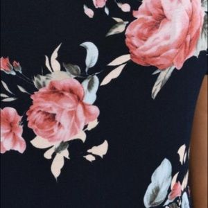 Tops - Black Floral Blouse